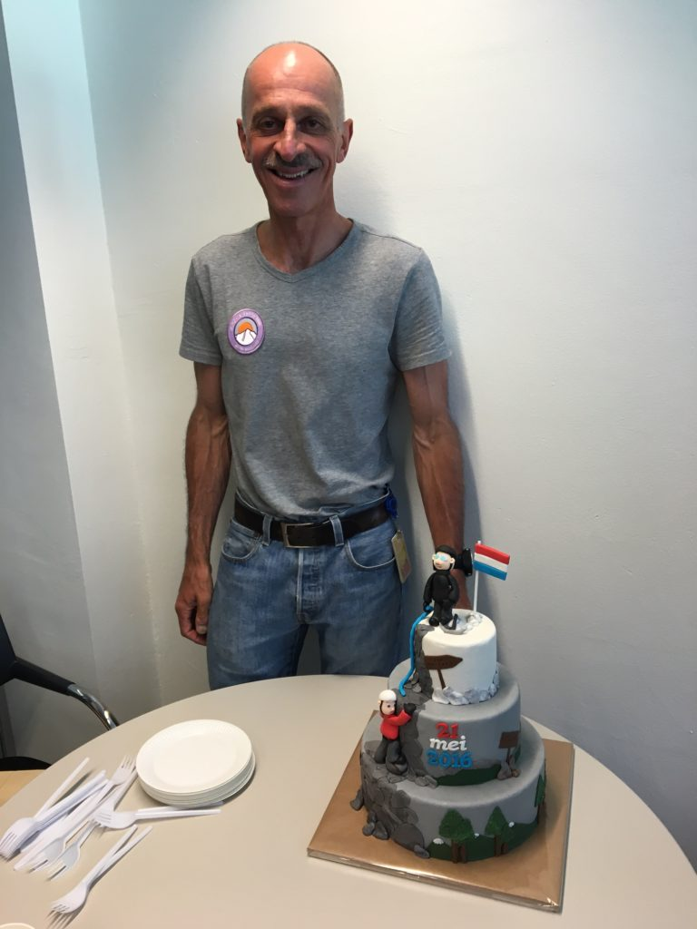 Special 'welcome back' cake at Shell Health