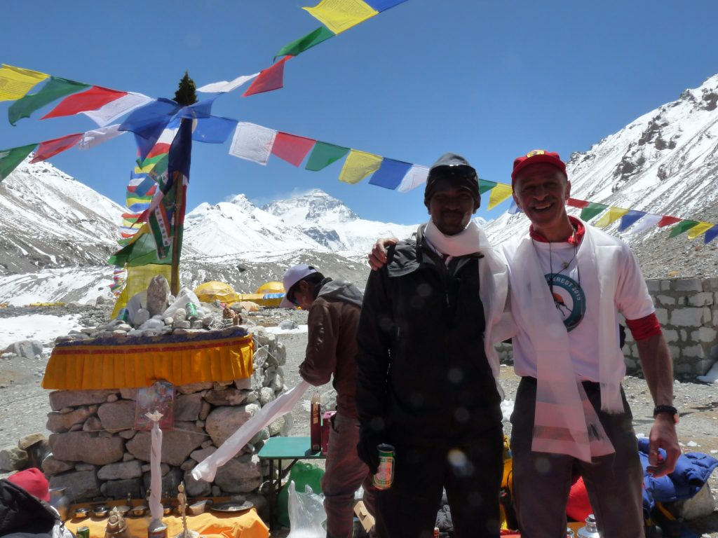 Bharath and me at the 2015 Mt Everest Puja Ceremony